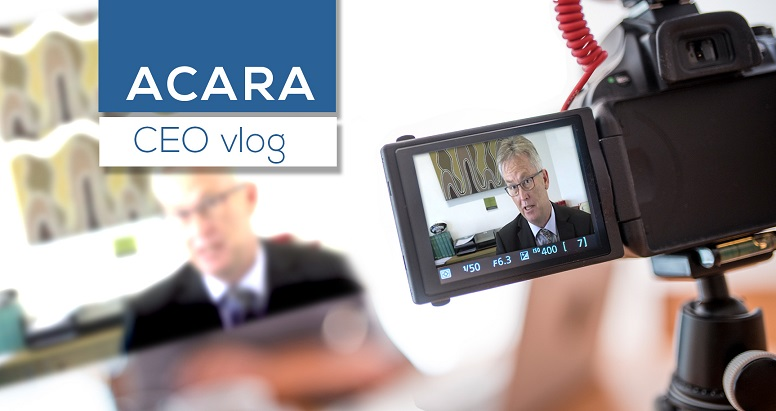 ACARA CEO vlog
