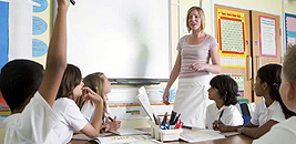 Picture of a Classroom with students and Teacher