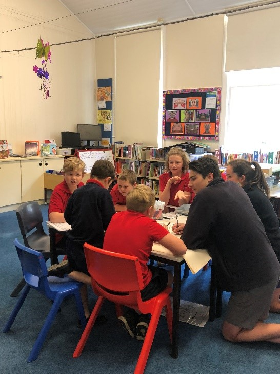 Year 8 Crookwell High School mentors visit Binda Public School