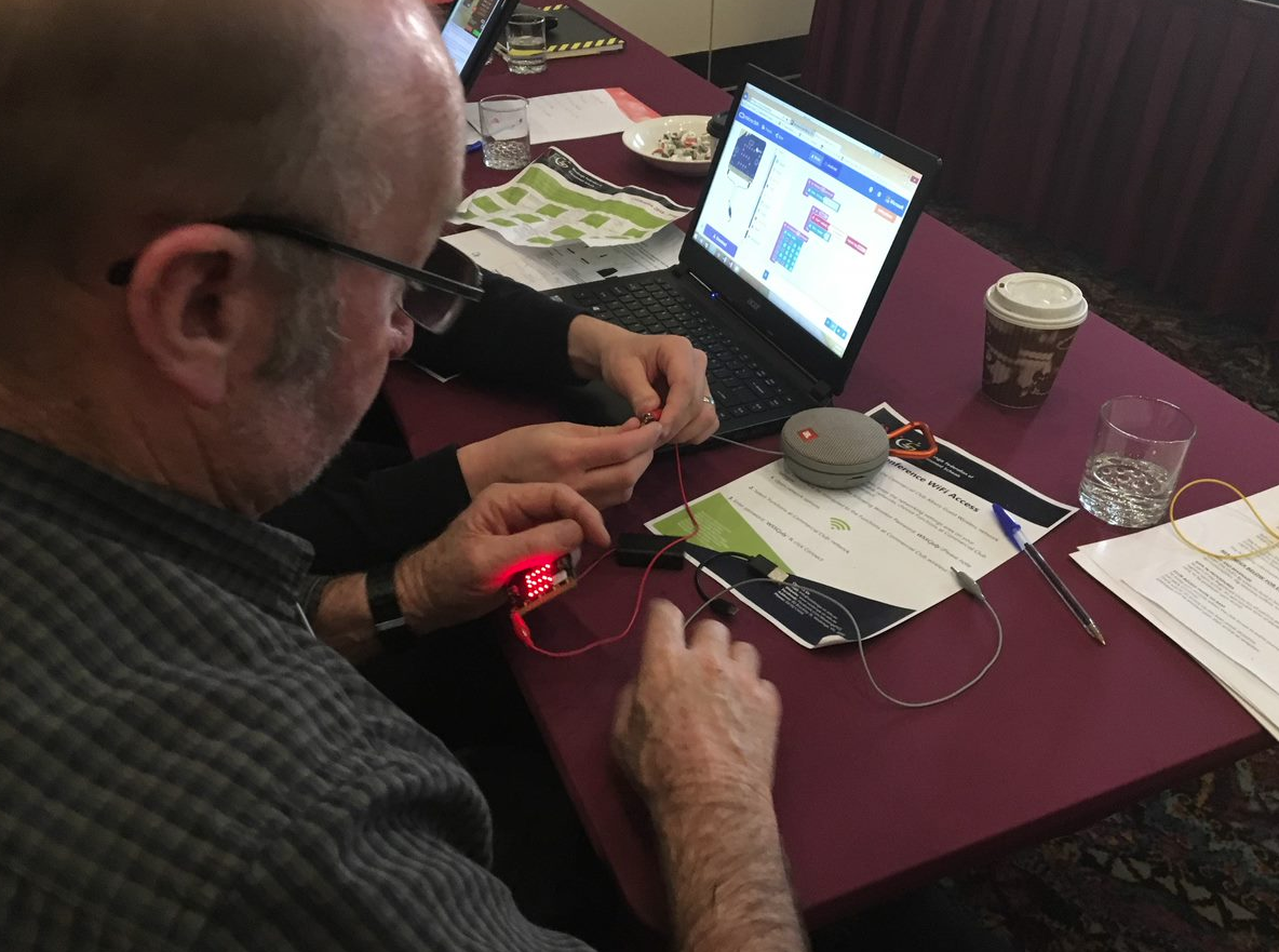 Participants learning about Scratch and BBC microbit