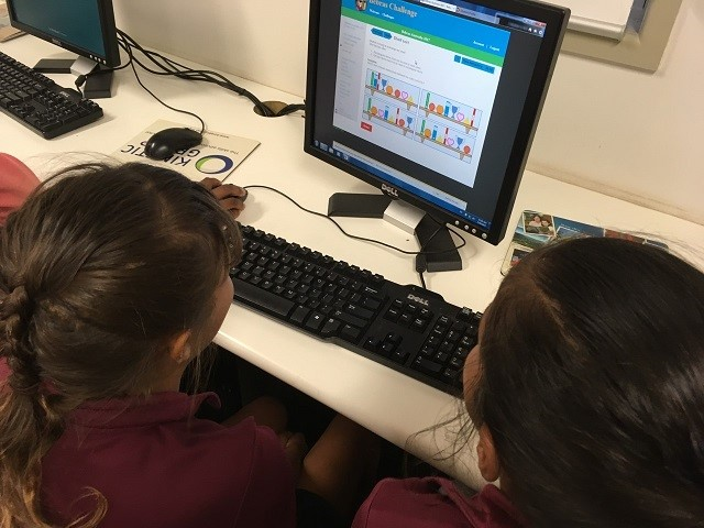 Year 4 students from Cherbourg State School are taking the Bebras Computational Thinking Challenge